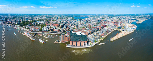 Hamburg city centre view, Germany