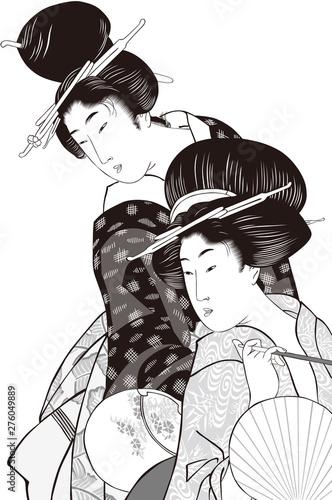Fotografia 浮世絵 女性 その34 白黒