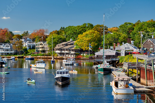 Fishing boats docked in Perkins Cove, Ogunquit, on coast of Maine south of Portl Fototapete