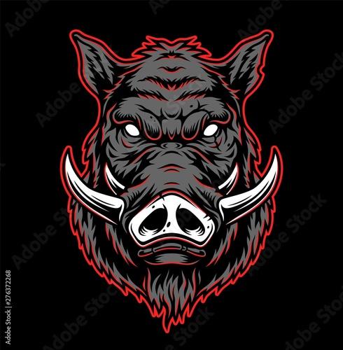 Fotografía Vintage hog head concept