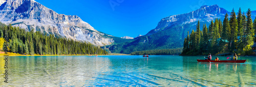 Canvas Print Emerald Lake,Yoho National Park in Canada,banner size