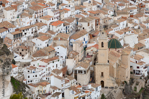Vista parcial de la bella población de Alcalá del Júcar. Albacete. Castilla La Mancha. España