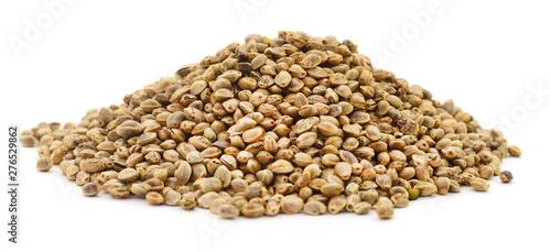 Obraz na płótnie Pile of hemp seeds.