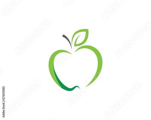 Fotografiet healthy apple vector design icon