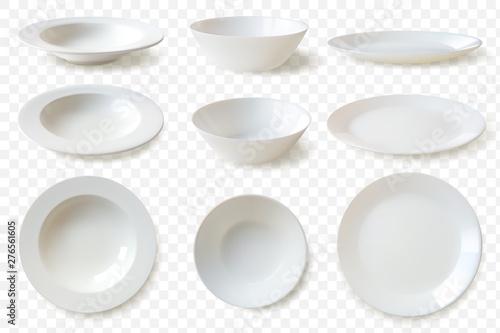 Fotografia Realistic plates set