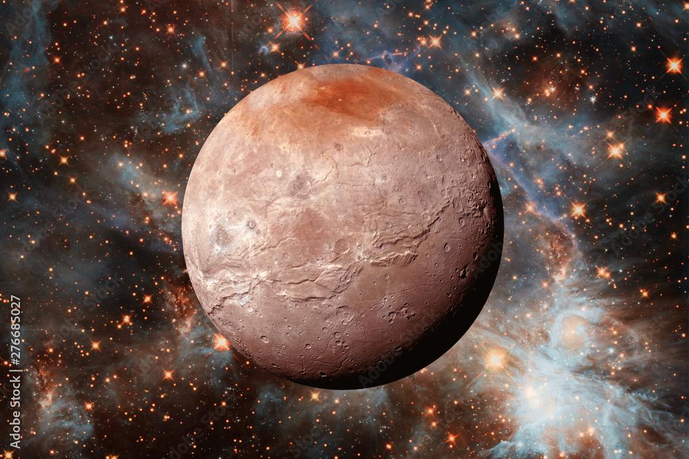 Pluton. Karłowata planeta Układu Słonecznego. Elementy tego obrazu dostarczone przez NASA. <span>plik: #276685027 | autor: wowinside</span>