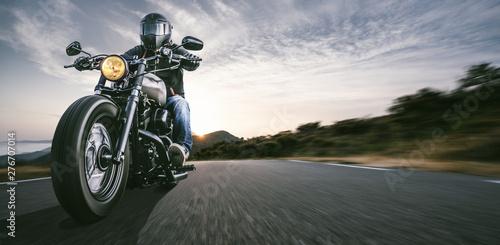 motorbike on the road riding Fototapet