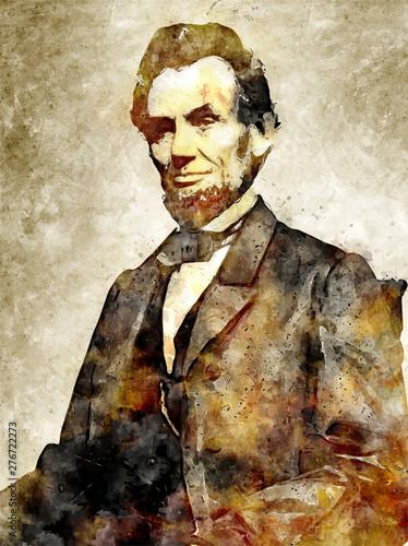 Wallpaper Mural Abraham Lincoln Digital Art Portrait
