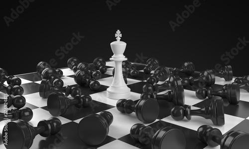 Fotografia Reverence King Chess Board Scene