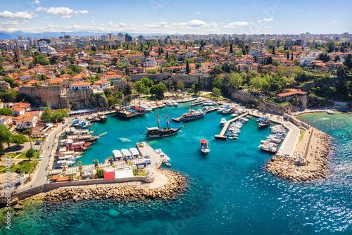 Fototapeta premium Port Antalya, Turcja, zrobione w kwietniu 2019 r. \ R \ n 'zrobione w hdr