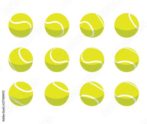 Photo Tennis Ball Animate Spinning Vector Illustration