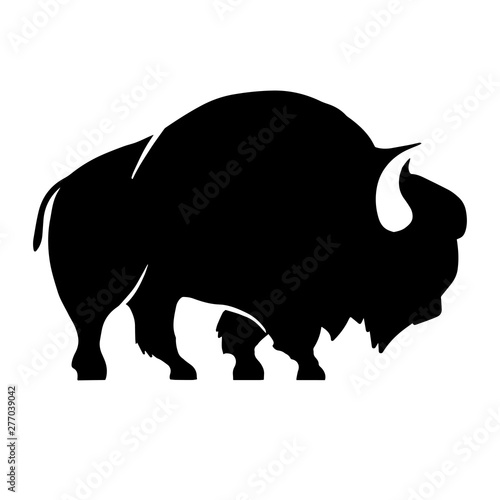 Foto Abstract silhouette of bison .Vector badge