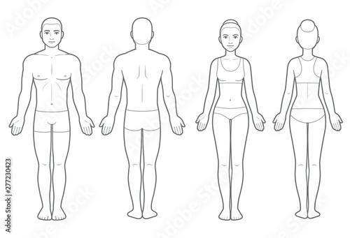 Foto Male and female body chart