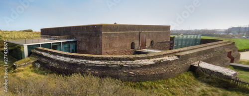 Obraz na plátne Panoramic view of Fort Napoleon, Ostend, Belgium, Europe