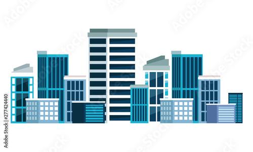 building urban architecture icon cartoon