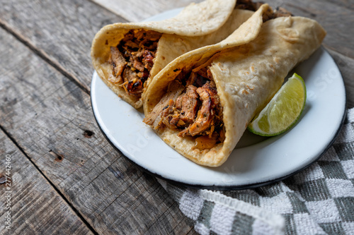 Mexican tacos known as arabes style Fototapeta