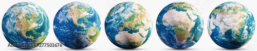 Fotografie, Tablou Planet Earth geography map set