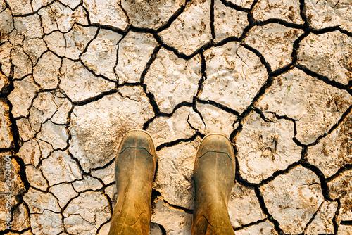 Obraz na płótnie Global warming and climate change effects threat to mankind