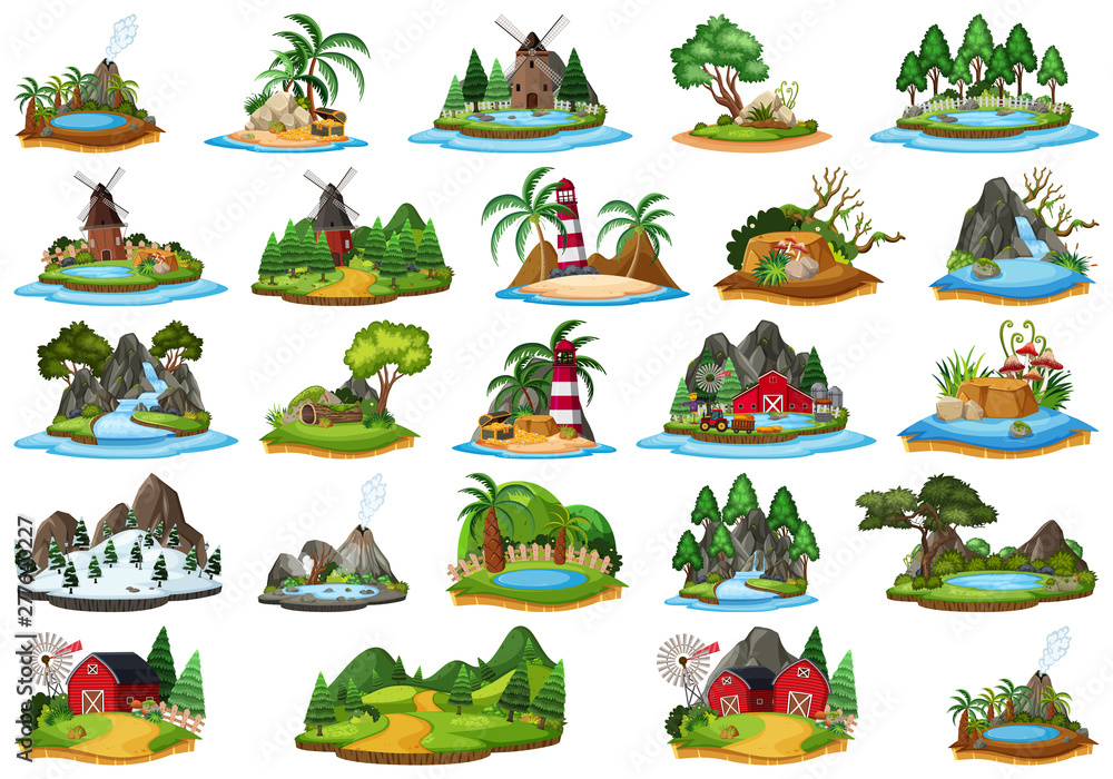 Set of different islands <span>plik: #277640227   autor: brgfx</span>