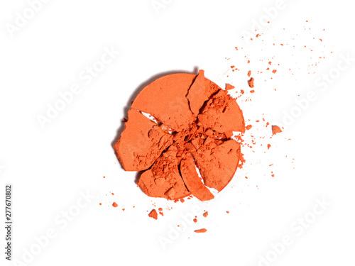 Fotografia Orange eyeshadow sample.