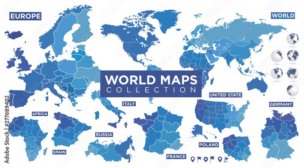 Mapa świata z krajami <span>plik: #277689402   autor: Julien Eichinger</span>