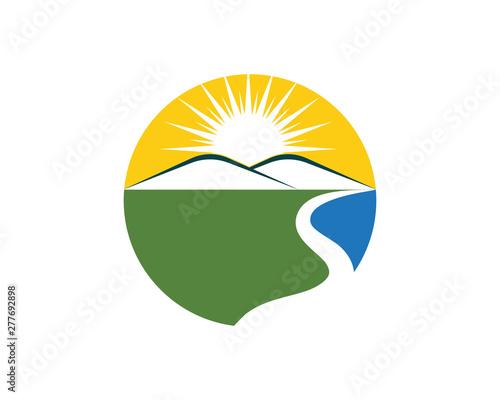 Foto River  Logo Template vector icon
