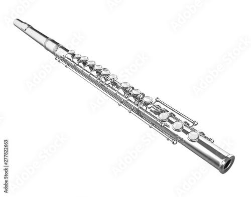 Western Concert Flute Isolated Fototapeta