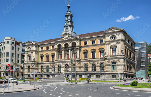 Photo City Hall in the Basque city of Bilbao