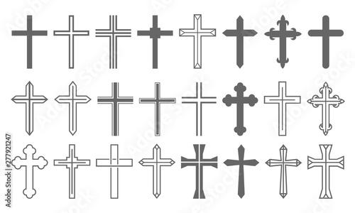 Slika na platnu Cross Set Christian Icon Collection