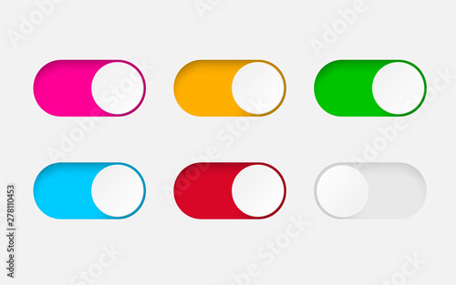 Tela Set of On and Off toggle switch buttons