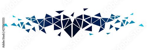 sfondo, triangoli, poligoni, esplosione, frammenti Fototapete