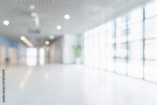 Photographie blur image background of corridor in hospital or clinic image