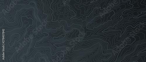 Canvas Print Terrain map