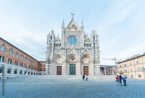 Fototapeta Church Cattedrale di Siena in historical city Siena, Tuscany, Italy