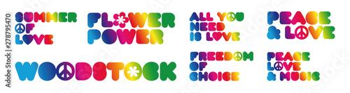 Fotografie, Obraz Slogans of the hippie years