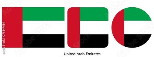 Fotografia United Arab Emirates flag, vector illustration