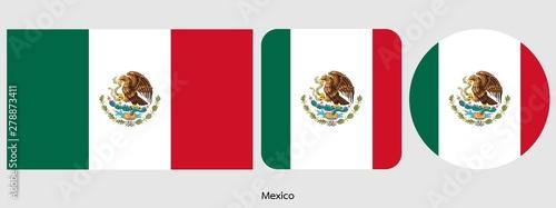Mexico flag, vector illustration
