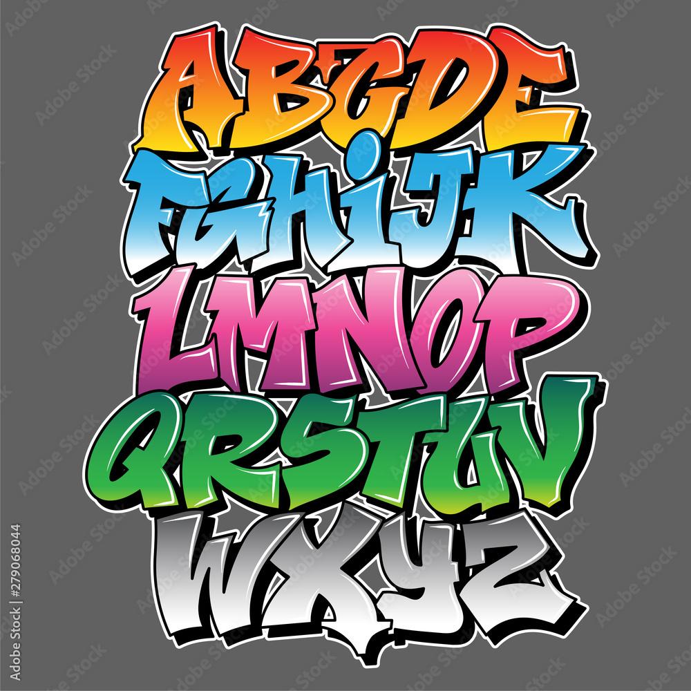 Projekt tekstu napis w stylu graffiti <span>plik: #279068044 | autor: Oleksa</span>