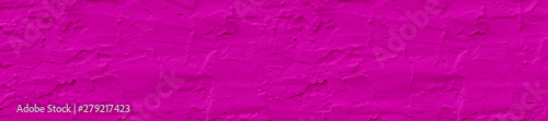 Panorama rough crimson color textured wall background.