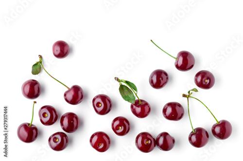 Photographie fresh cherries pattern