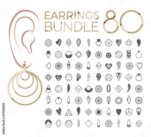 Canvastavla vector designs of earring