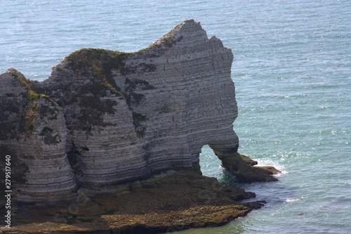 paysage sauvage des falaises normande à étretat Fototapet