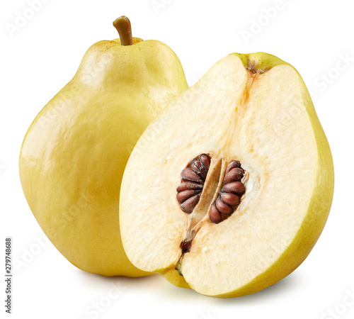 Photographie Quince isolated on white