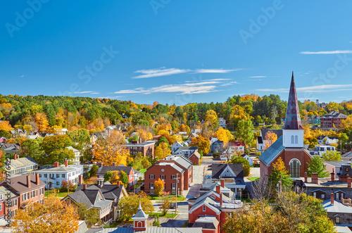 Montpelier town skyline at autumn in Vermont, USA Fototapet