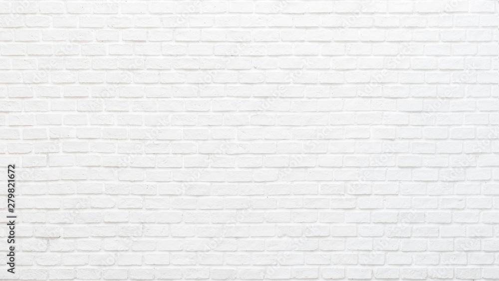 Biały ściana z cegieł tekstury tło dla kamiennego bloku płytki malował w szarym jasnego koloru tapetowym nowożytnym wnętrzu, zewnętrzu i tło projekcie <span>plik: #279821672   autor: Chinnapong</span>