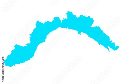 Fototapeta map of Liguria region in Italy