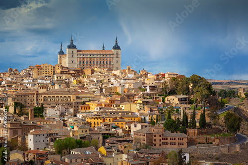 Spain, Castile La Mancha, Toledo, Overview of city, UNESCO World heritage site