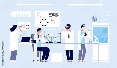 Obraz na plátně Scientists in lab