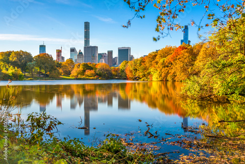 Photographie Central Park during autumn in New York City.