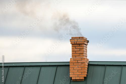 Smoke from the chimney, heating Fototapet